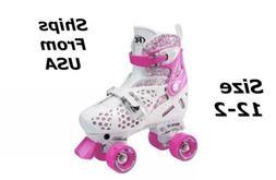 Girls Roller Derby Trac Star Adjustable Quad ROLLER SKATES -