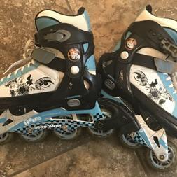 Girls Youth Roller Blades Inline Skates Size 1-4  Adjustable