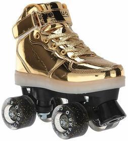 Chicago Skates Gold Pulse Light-up Roller Skates - Gold Boot