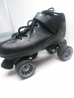 Pacer GTX 500 Black Mens Size 8 Quad Speed Roller Skates w/