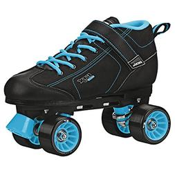 GTX-500 Quad Speed Indoor Rink Skates from Pacer. Black-Teal