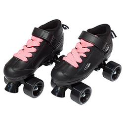 Pacer GTX-500 Roller Skates w/ Pink Laces - Black - Size 4