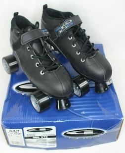 Pacer GTX-500 Size Adult 10 Roller Skates-Black Sure-grip Mo