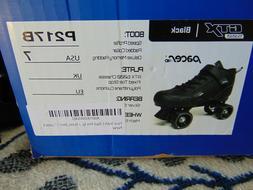 Pacer GTX-500 Size Adult 7 Roller Skates-Black Sure-grip Mod