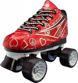 Pacer Heart Throb Womens Roller Derby Skates - Red - Size 8