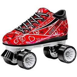Pacer Heartthrob Roller Skate RED Size 2