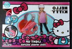 HELLO KITTY - LIGHT-UP HEEL WHEEL SKATES - BY PLAYWHEELS - N
