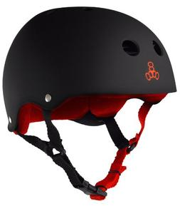 Triple Eight Helmet with Sweat Saver Liner, United Red Rubbe