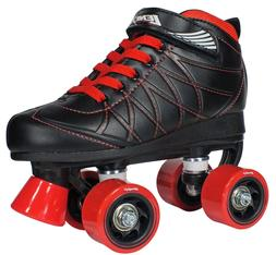 Lenexa Hoopla Birthday Roller Skates - Black and Red Boys/Me
