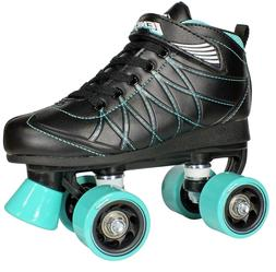 Lenexa Hoopla Birthday Roller Skates - Black and Teal Boys