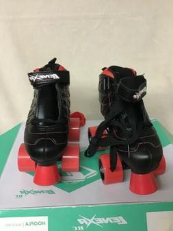 Lenexa Hoopla  Kids Roller Skates for Boys-Girls Black -Red