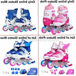Kids Inline Roller Skates Adjustable for Boys Girls w/Lights