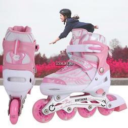 Inline Skate Boots Kids Skate Shoes Adjustable Roller Blades