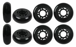 Inline Skate Wheels 64mm 82A Black Outdoor Roller Hockey Rol