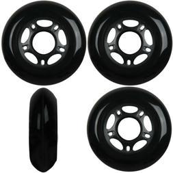 Inline Skate Wheels 80mm 89A Outdoor Black Rollerblade Hocke