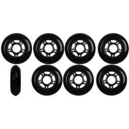 Inline Skate Wheels 80mm 82A Black Outdoor Roller Hockey Rol