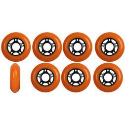 Inline Skate Wheels 80mm 89A Outdoor Orange Rollerblade Hock