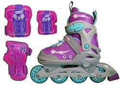 Inline Skates for Girls with Adjustable Sizing + Protective