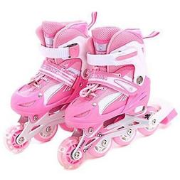 Girls Inline Skates Adjustable Rollerblades for kids Illumin
