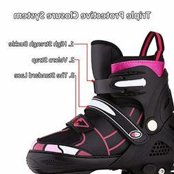 Hikole Inline Skates for Adult Men Women - Adjustable Size R