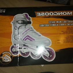 Mongoose Inline Skates Roller Blades Silver Purple Size Yout