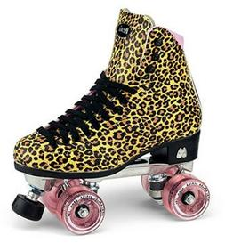 Moxi Ivy Jungle Outdoor Quad Roller Skates Leopard Print w/