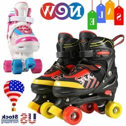 Kids 4 Wheels Roller Skates Double Row Children Boys Girls B