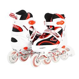 Kids Adjustable Inline Skates for Girls and Boys Durable Out