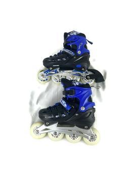 Kids Adjustable Inline Skates Roller Blades Purple Blue Scal