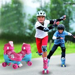 Kids Adjustable Quad Roller Skates For Boys Girls 2 size 4 W