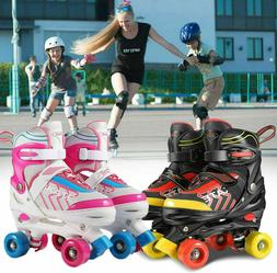 Adjustable Size Roller Skates for Kids 4 Wheels Children Boy