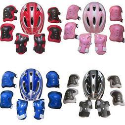 For Kids Boy Girls Safety Roller Skating Helmet  Knee Elbow
