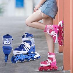 Kids Inline Skates Adjustable Roller Blades Shoes Sport Skat