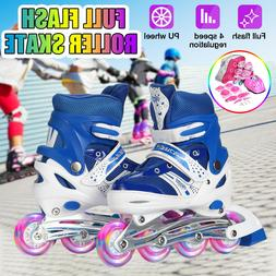 Kids Inline Skates for Girl Boy Adjustable Safety Roller Ska