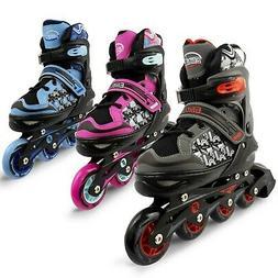 Eliiti Kids Inline Skates for Girls Boys Size 13J to 9 Adjus