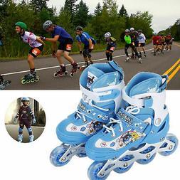 Kids Inline Skates Roller Shoes with Adjustable Size Light u