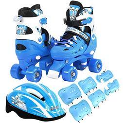 Scale Sports Kids Quad Skates Combo Set 6 PCS Protective Gea