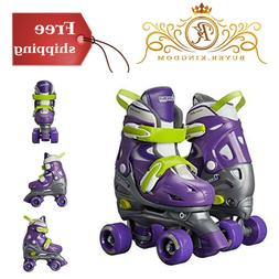Kids Roller Skates With Adjustable Quad Hi-top Silhouette Pa
