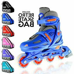 Crazy Skates Kids Size Adjustable Inline Roller Blades 148 B