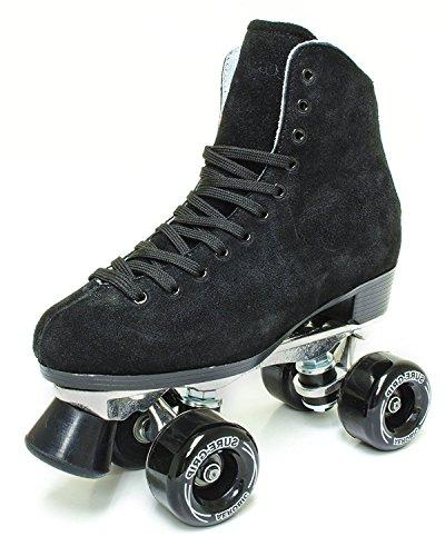 1300 black suede roller skates