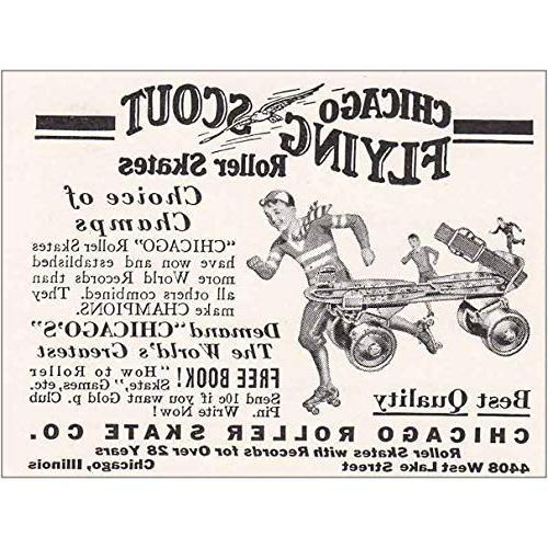 1934 chicago roller skate flying