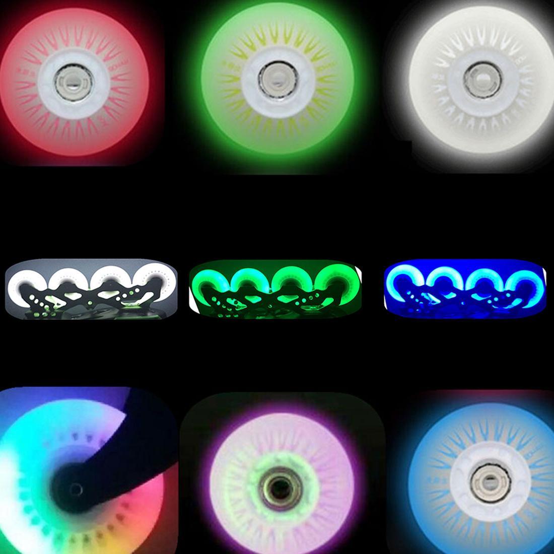 4pcs Flashing Wheel for <font><b>Skates</b></font> 90A for <font><b>Roller</b></font> Wheels