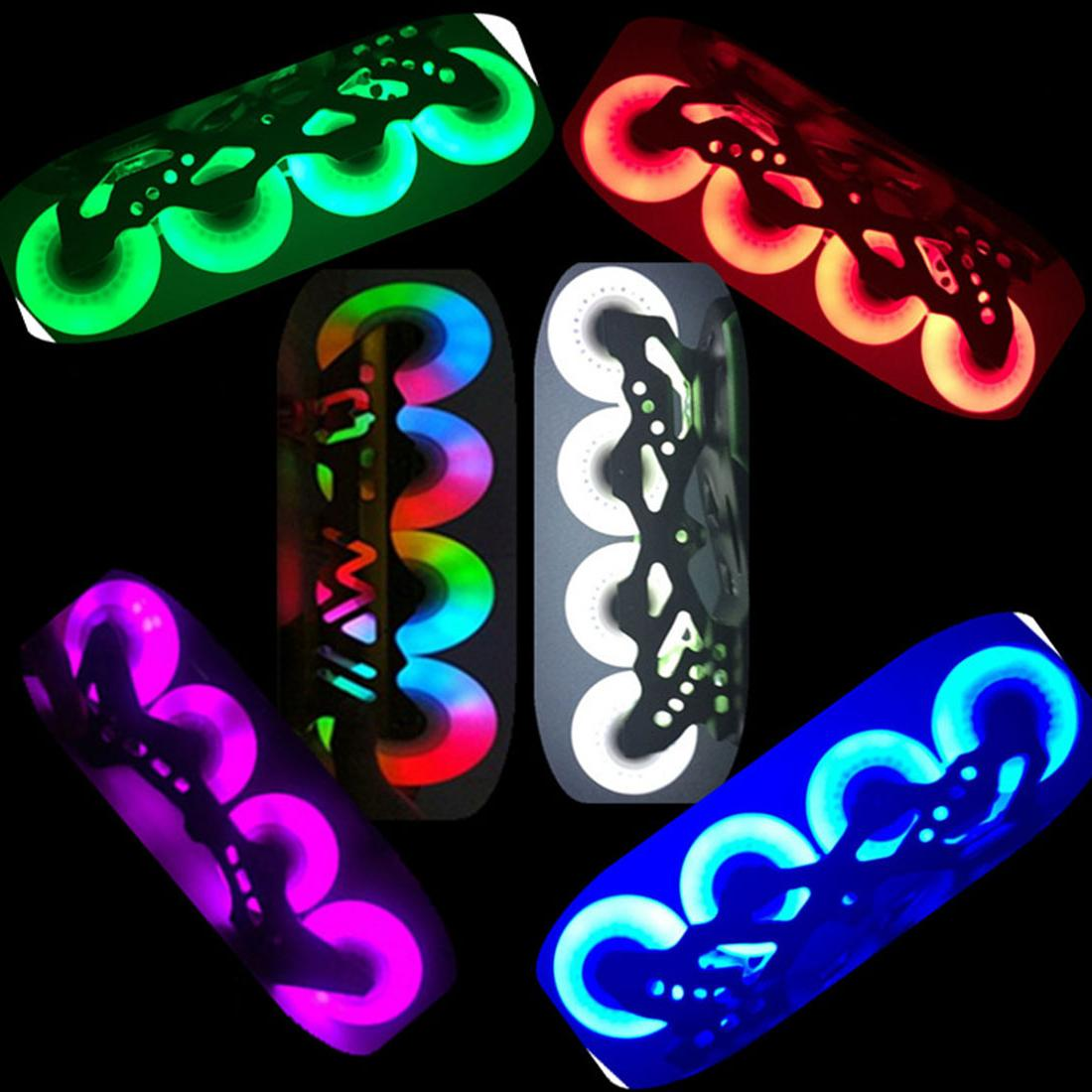 4pcs LED Wheel 70mm for Inline <font><b>Skates</b></font> for Kids