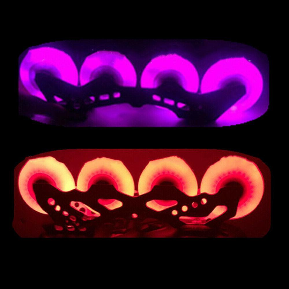4X Skate Wheels Roller Skates LED Glow Light 64- Outdoor Wheel