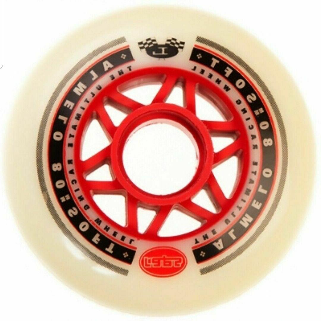 4x 80mm Labeda OUTDOOR Inline Skate Wheels / rollerblade rol