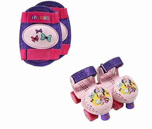 Playwheels Disney Minne Rollerskate Pink Junior Size 6-12 Kn