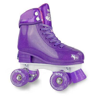 adjustable glitter pop roller skates for girls