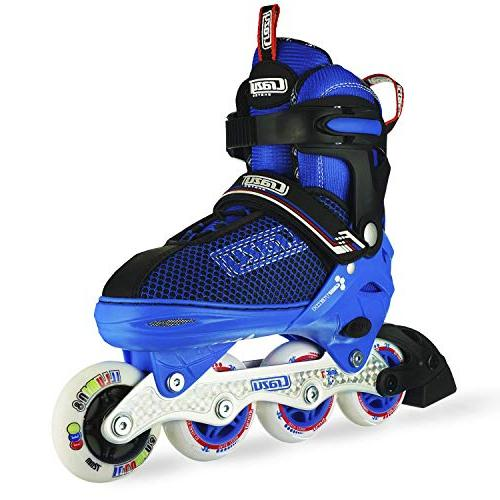 Crazy Adjustable Inline Skates with Up Wheels for Boys | Small