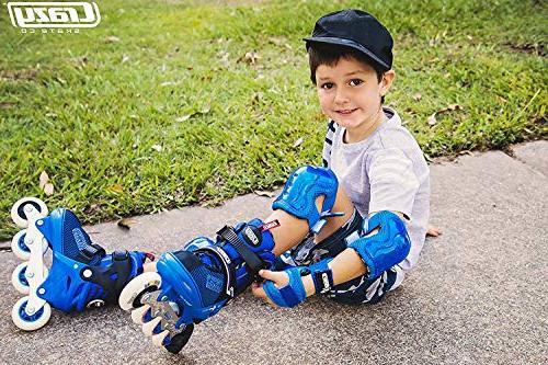 Crazy Skates Skates with Light for Boys Blue Small