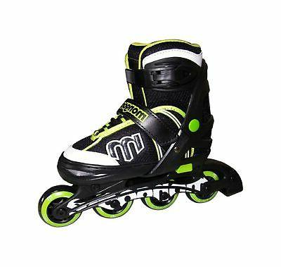 Mongoose Adjustable Inline Skates- Green, Green/Gray/Black,